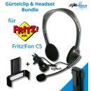 Headset & Gürtelclip Bundle für AVM...